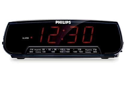 Réveillez-vous au son de la radio ou du vibreur.