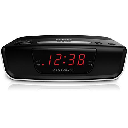 Reloj con alarma y radio