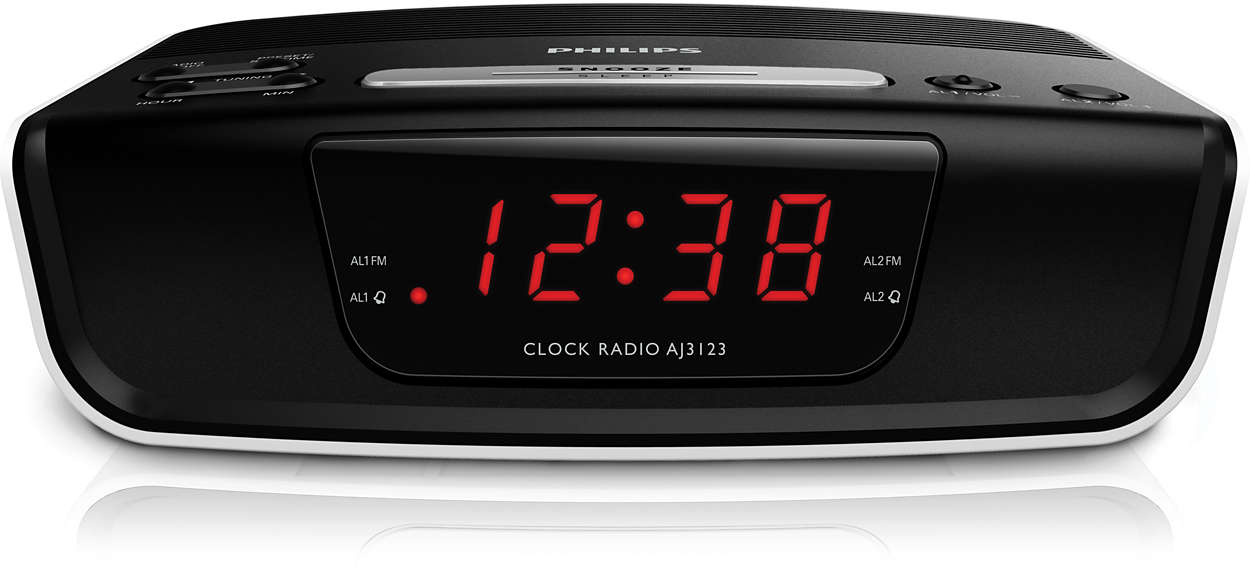 radio r veil avec tuner num rique aj3123 12 philips. Black Bedroom Furniture Sets. Home Design Ideas