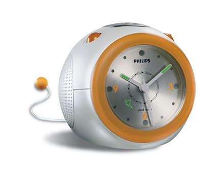 Despertador com rádio analógico