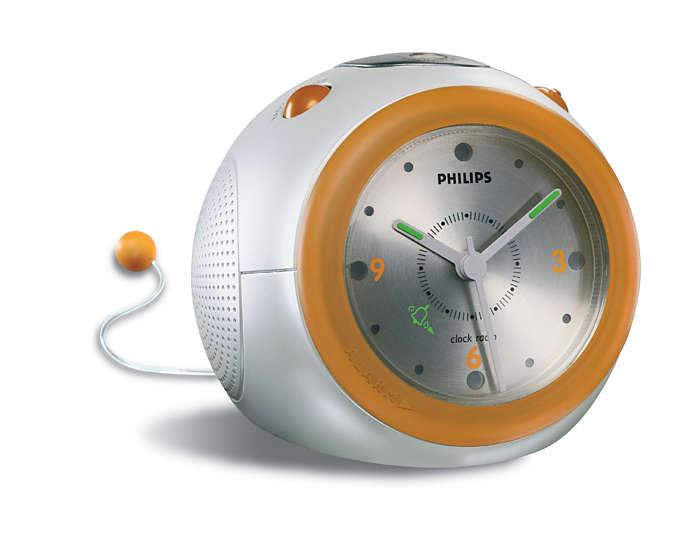 Аналоговые часы с будильником
