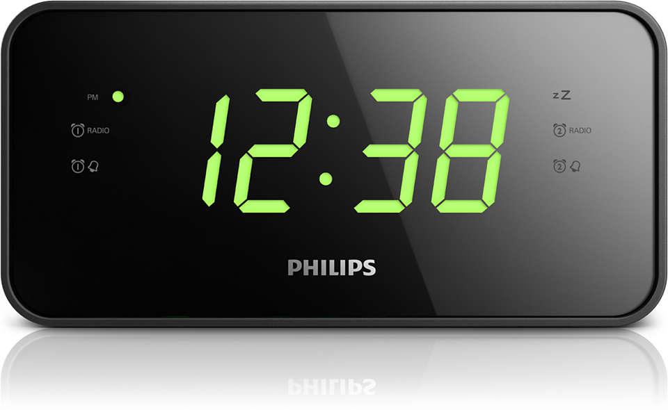 Big display clock radio