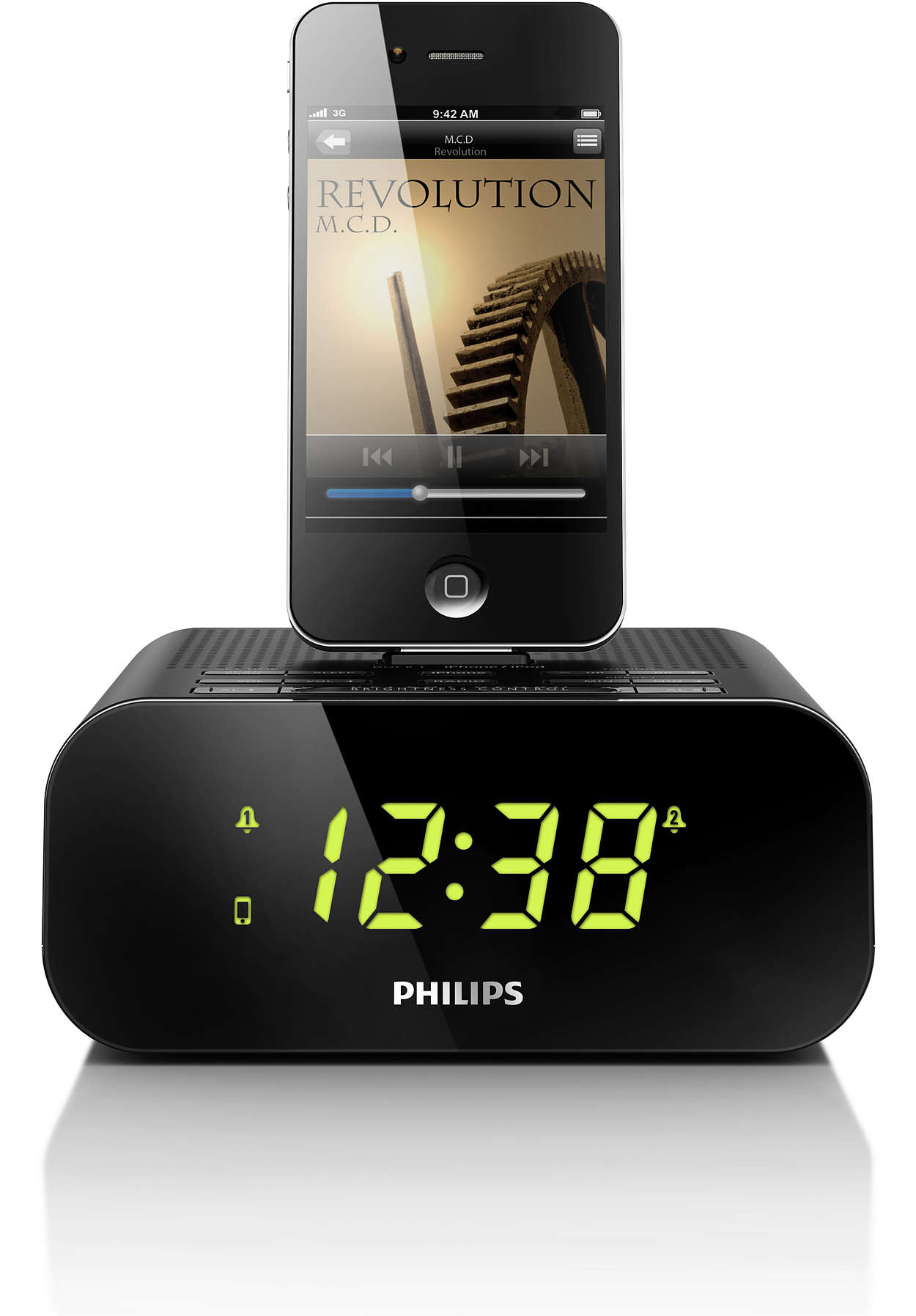 radio r veil pour ipod iphone aj3270d 12 philips. Black Bedroom Furniture Sets. Home Design Ideas