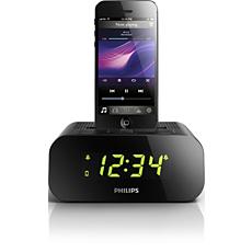 AJ3275D/12  Rádio relógio para iPod/iPhone