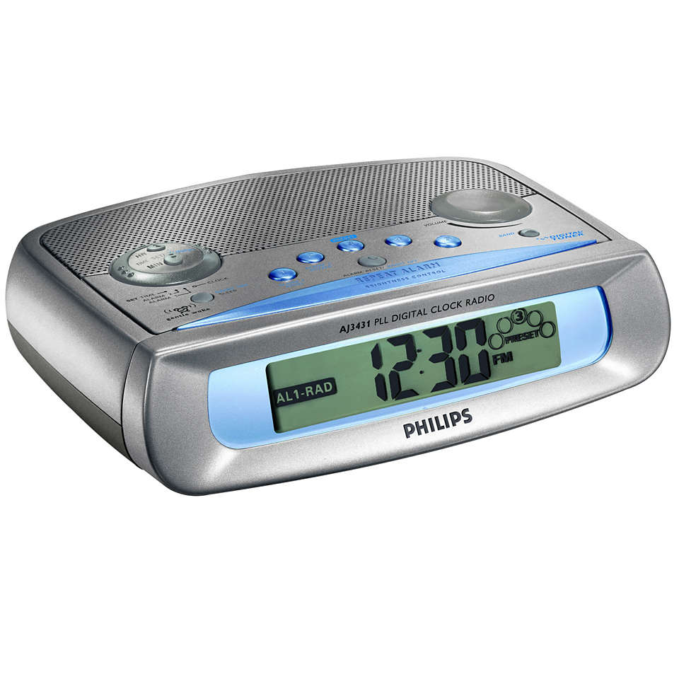 Klokradio met dubbel alarm