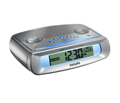 Klockradio med dubbla alarm och digital tuner