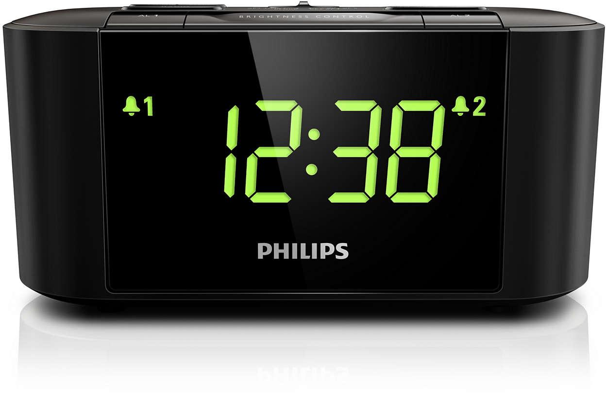 Radijo imtuvas su laikrodžiu ir dideliu ekranu