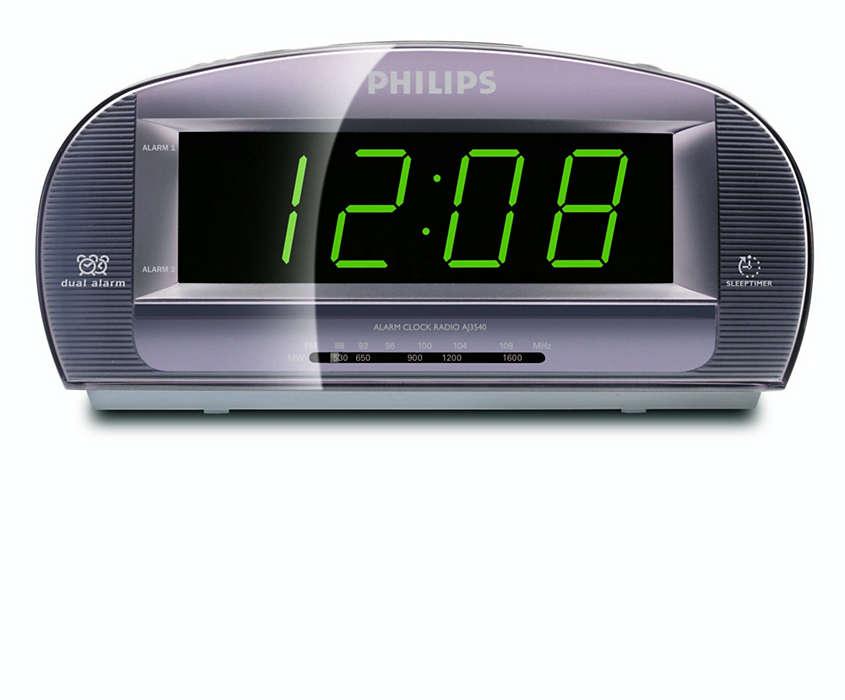 Büyük ekranlı saatli radyo
