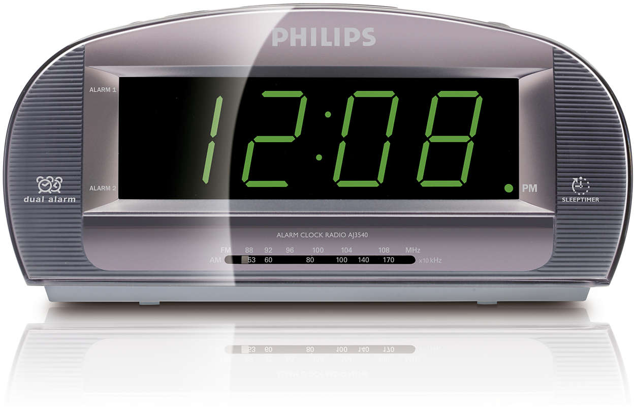 Radio-réveil avec grand écran