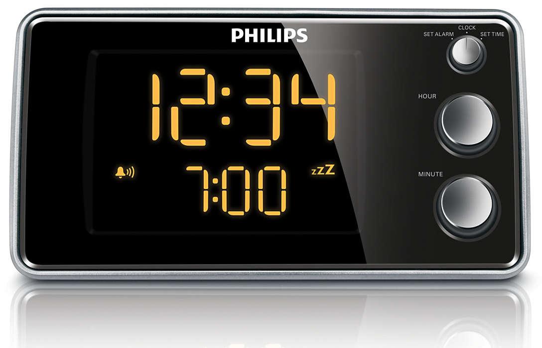 Rádio relógio com visor grande