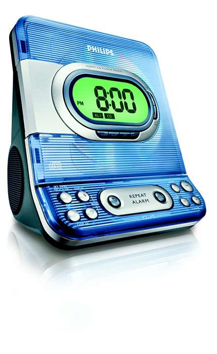 Alarm clock with CD playback