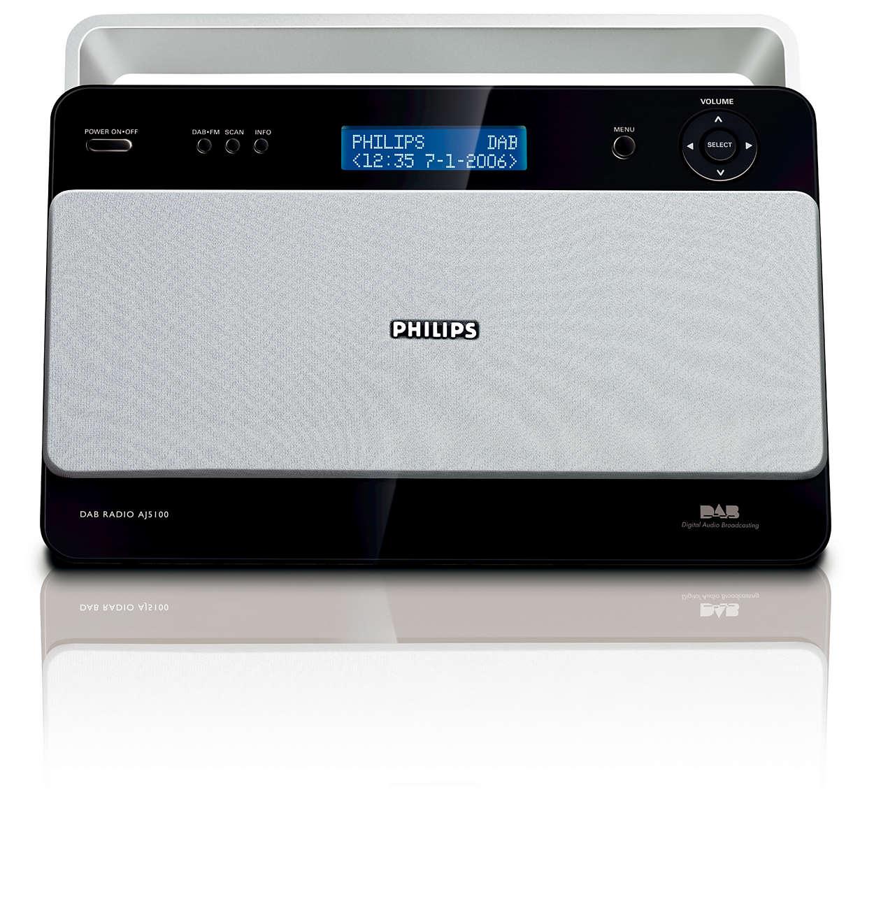 Digital radio med krystallklar lydkvalitet