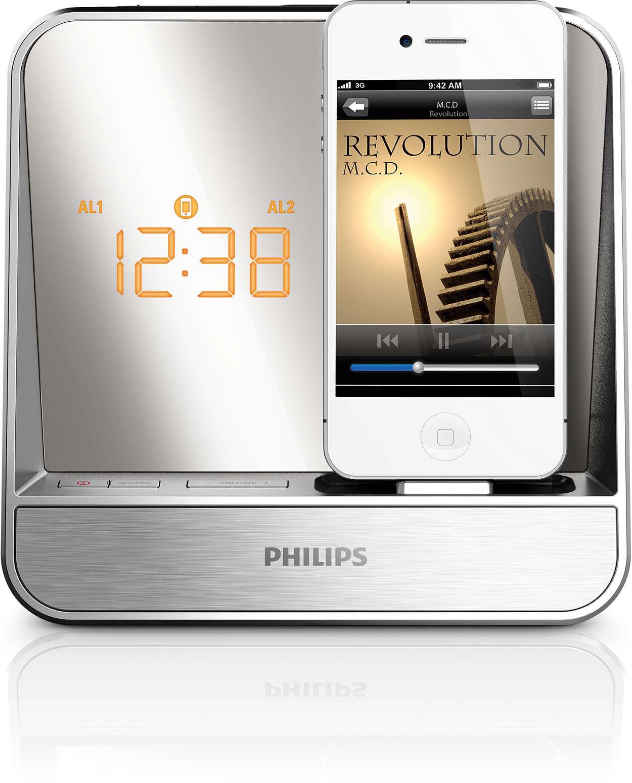 radio r veil pour ipod iphone aj5300d 12 philips. Black Bedroom Furniture Sets. Home Design Ideas