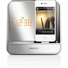 AJ5300D/12  Rádio relógio com alarme para iPod/iPhone