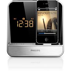 AJ5300D/37  Radio reloj despertador para iPod/iPhone