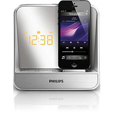 AJ5305D/12 -    Klokradio met alarm, voor iPod/iPhone