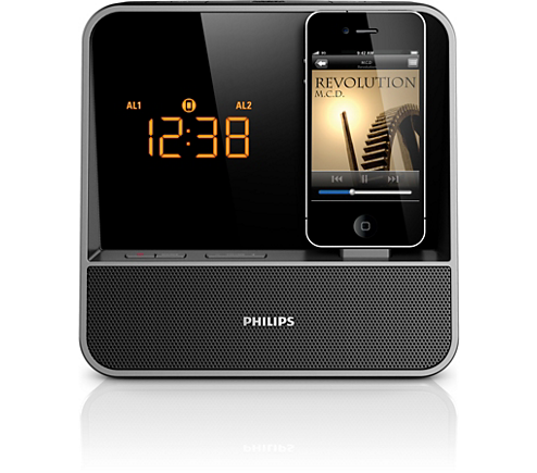 radiowecker f r ipod iphone aj5350d 12 philips. Black Bedroom Furniture Sets. Home Design Ideas