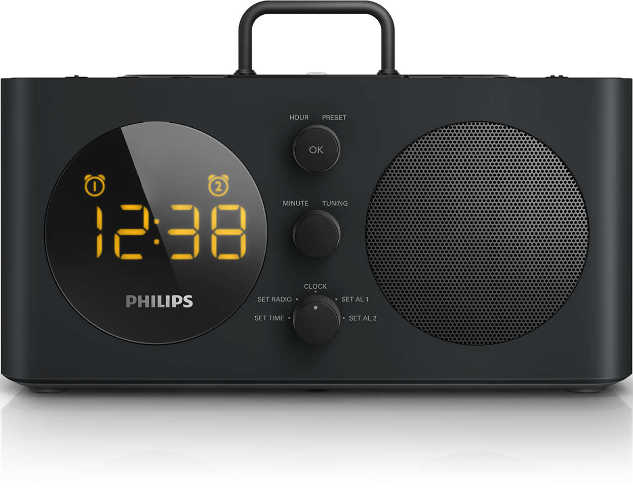 alarm clock radio for ipod iphone aj6200db 98 philips. Black Bedroom Furniture Sets. Home Design Ideas