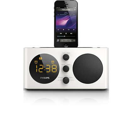 Wachen Sie zu großartiger Musik von Ihrem iPod/iPhone auf.