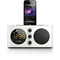 AJ6200D/12  Klokradio met alarm, voor iPod/iPhone