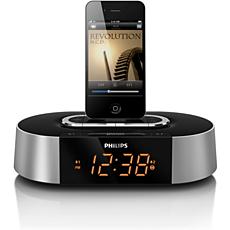 AJ7030D/12 -    Rádio relógio com alarme para iPod/iPhone