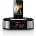 Klockradio med larm, för iPod/iPhone