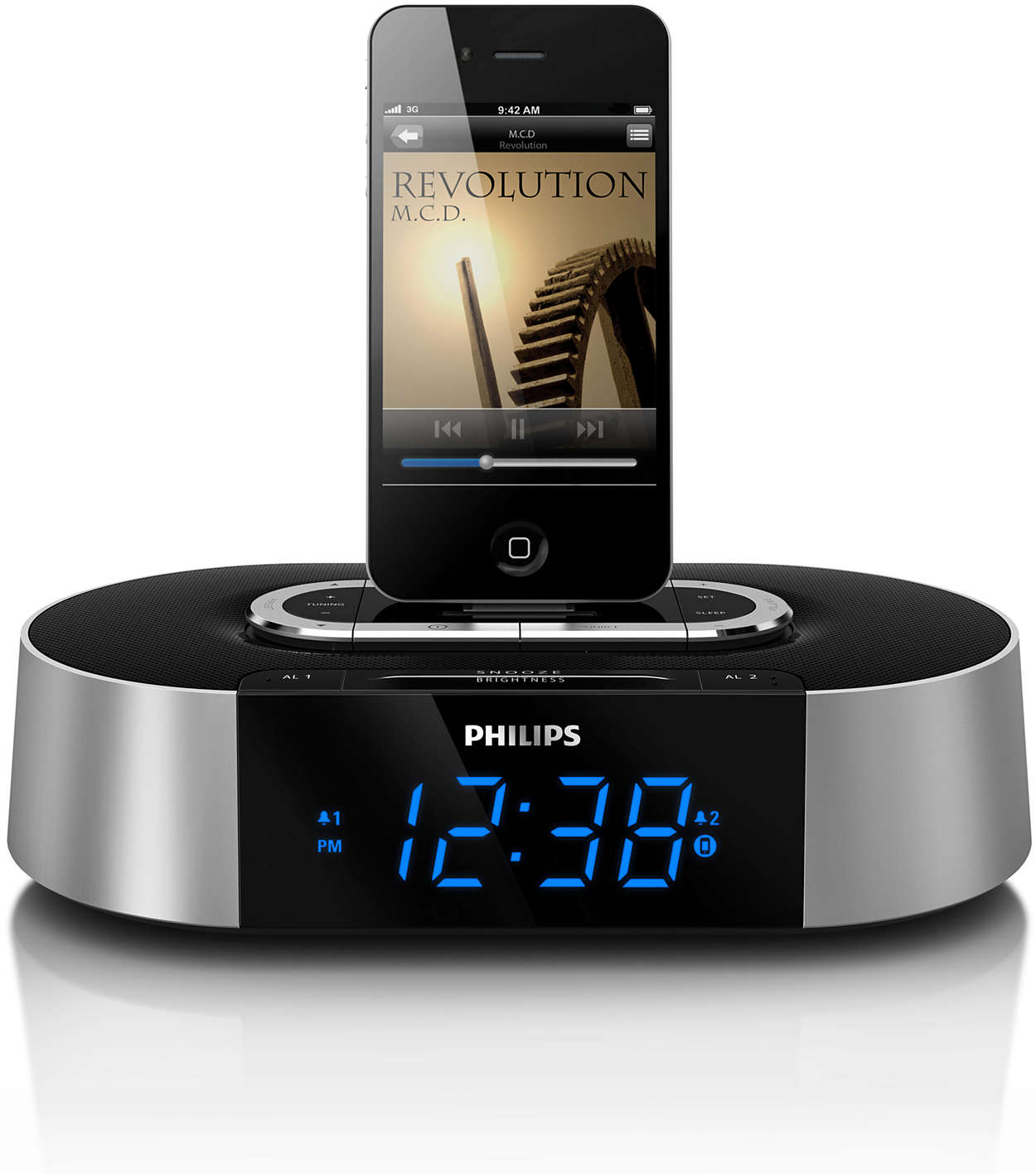 alarm clock radio for ipod iphone aj7030d 37 philips. Black Bedroom Furniture Sets. Home Design Ideas