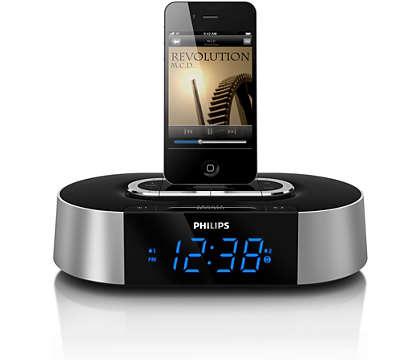 Réveillez-vous au son de la musique de votre iPod/iPhone.