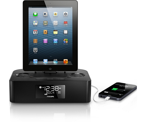 docking station for ipod iphone ipad aj7050d 12 philips. Black Bedroom Furniture Sets. Home Design Ideas
