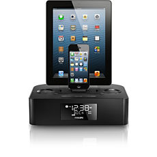 AJ7260D/37 -    Dual dock triple charging clock radio