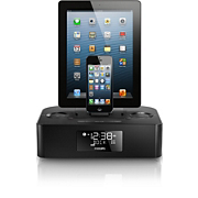 Dual dock triple charging clock radio