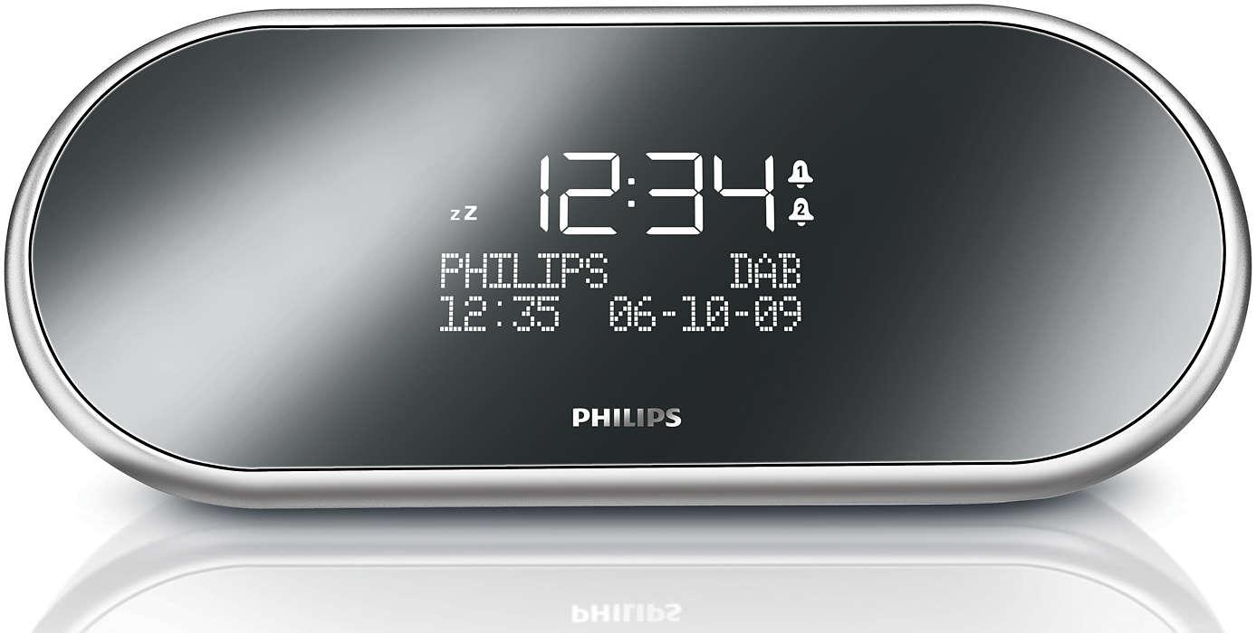 digital tuning clock radio ajb  philips - rise and shine