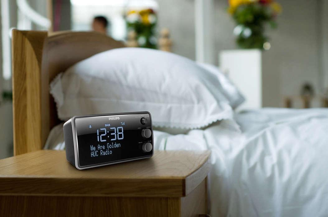 Wake up to clear and crackle free DAB radio. Clock Radio AJB3552 05   Philips