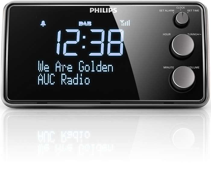 Despiértate con radio DAB+ con un sonido nítido,sin crepitaciones