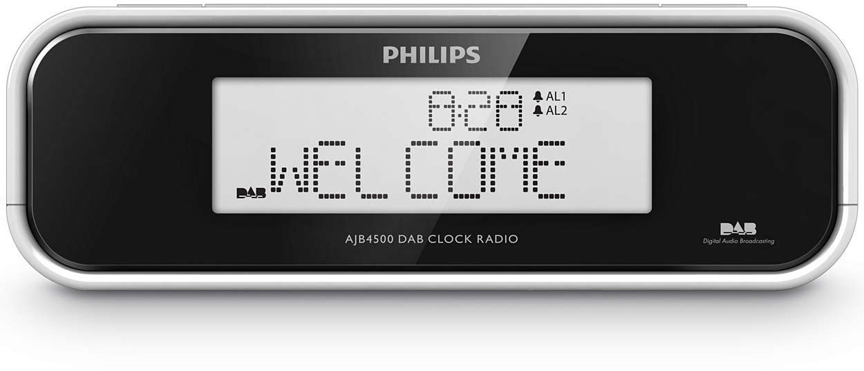 Wake up to DAB or FM radio