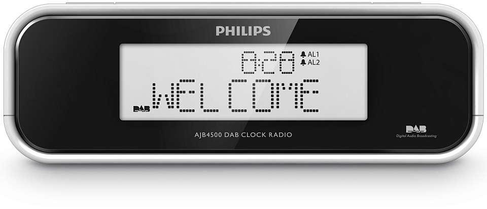 Wake up to DAB or FM radio