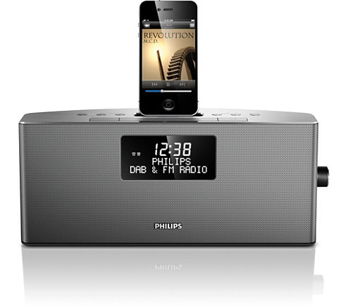 docking station voor ipod iphone ajb7038d 10 philips. Black Bedroom Furniture Sets. Home Design Ideas