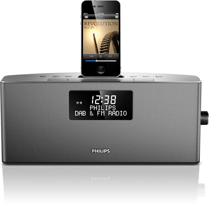 Bucuraţi-vă de muzică de pe iPod/iPhone şi radio DAB+