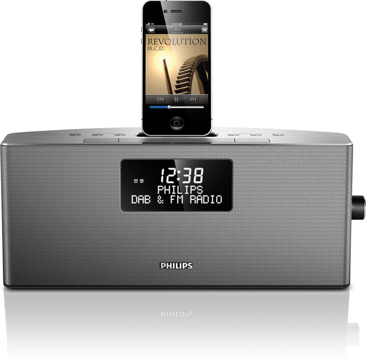 Слушайте музыку с iPod/iPhone и радио DAB+