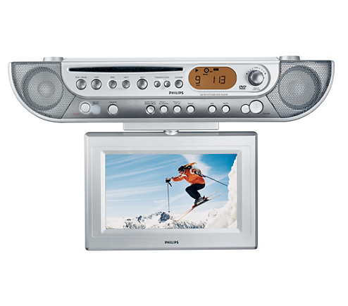 Dvd Lcd Tv Kitchen Clock Radio