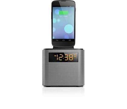 Diffusion de musique sans fil et recharge de votre téléphone