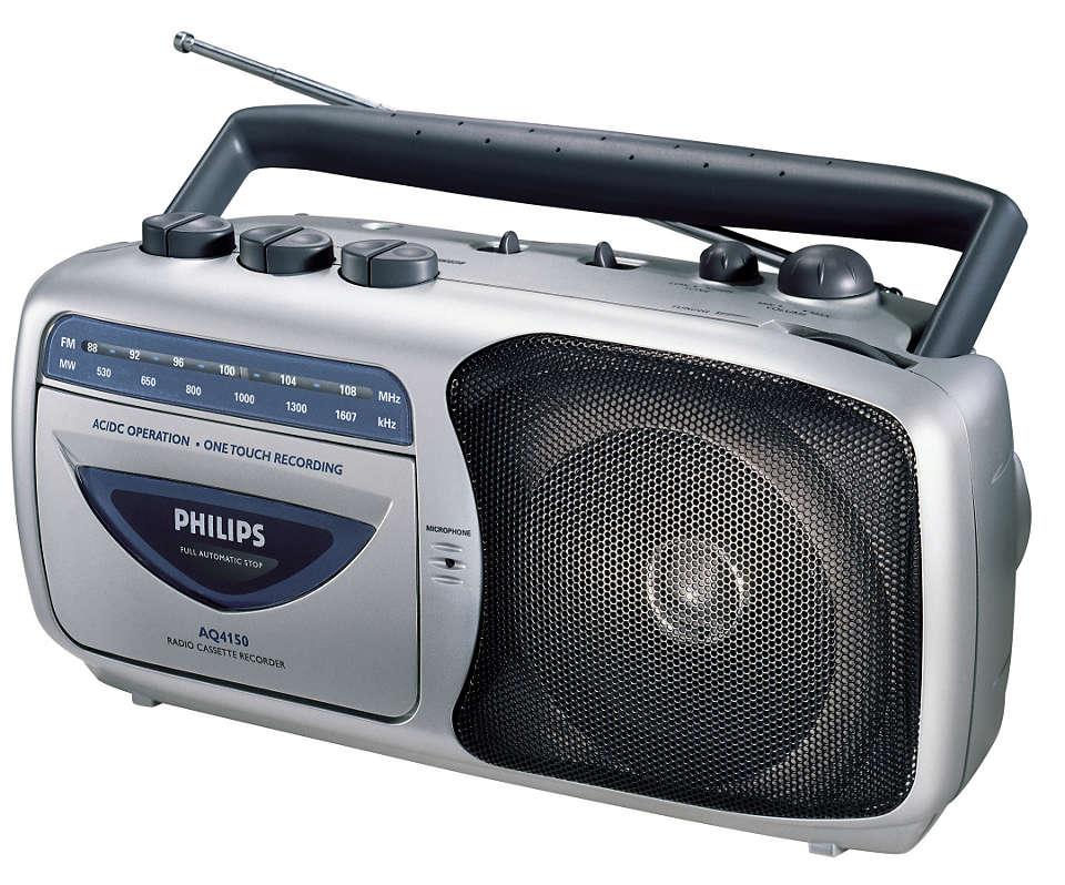 Portable radio cassette player