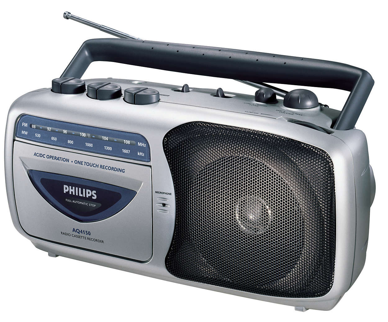 Radiocasete portátil.