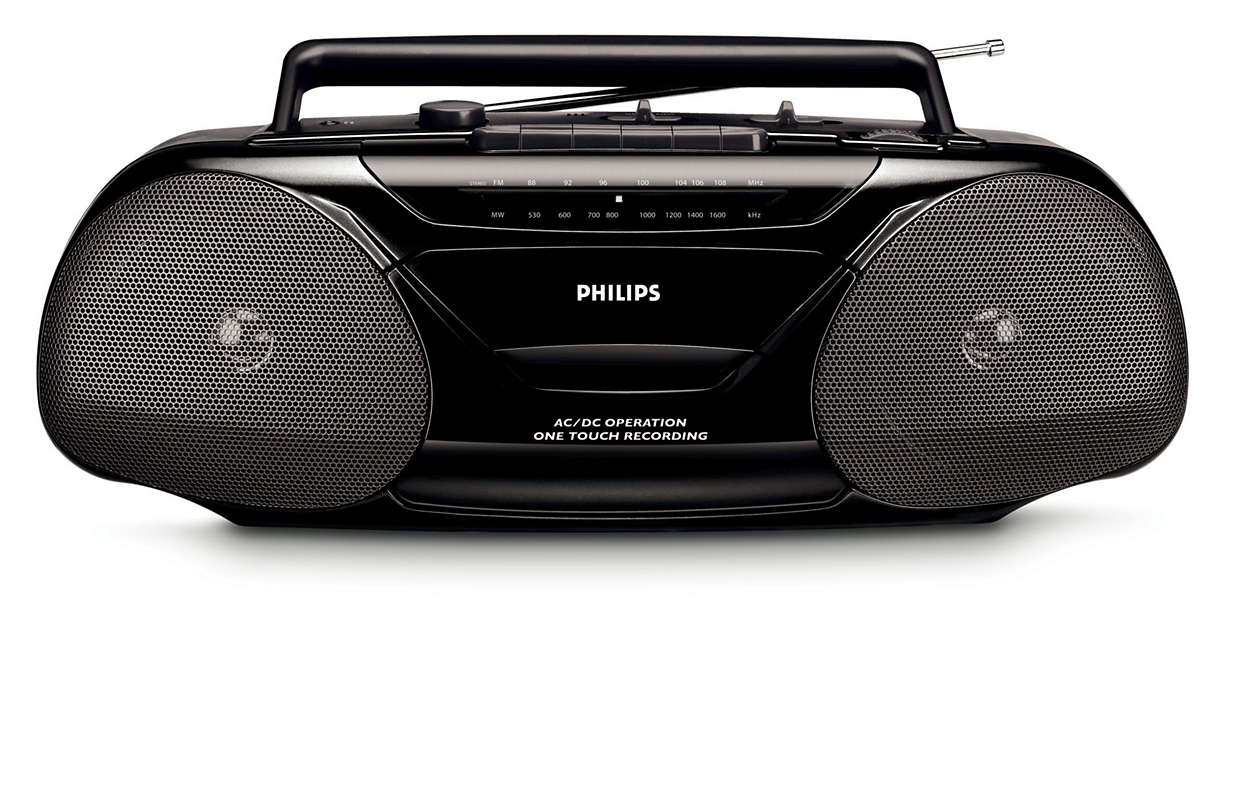 radio cassette recorder aq5130 98 philips. Black Bedroom Furniture Sets. Home Design Ideas