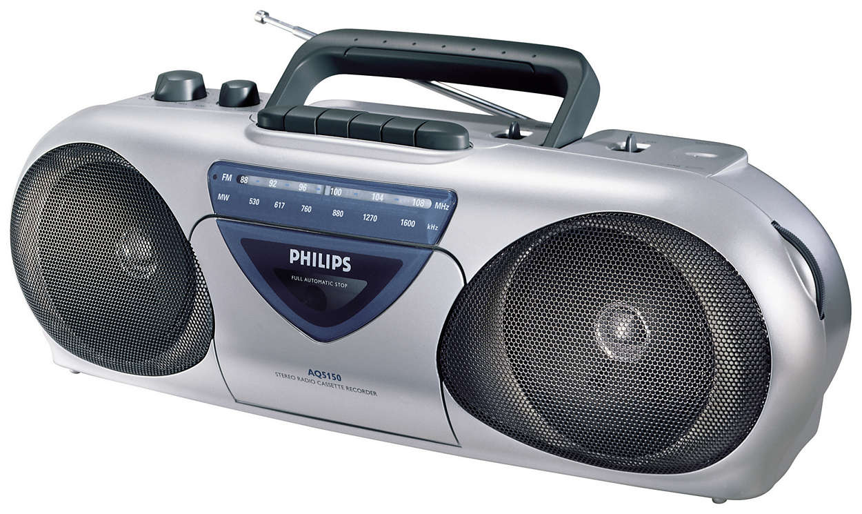 radio cassette recorder aq5150 00 philips. Black Bedroom Furniture Sets. Home Design Ideas