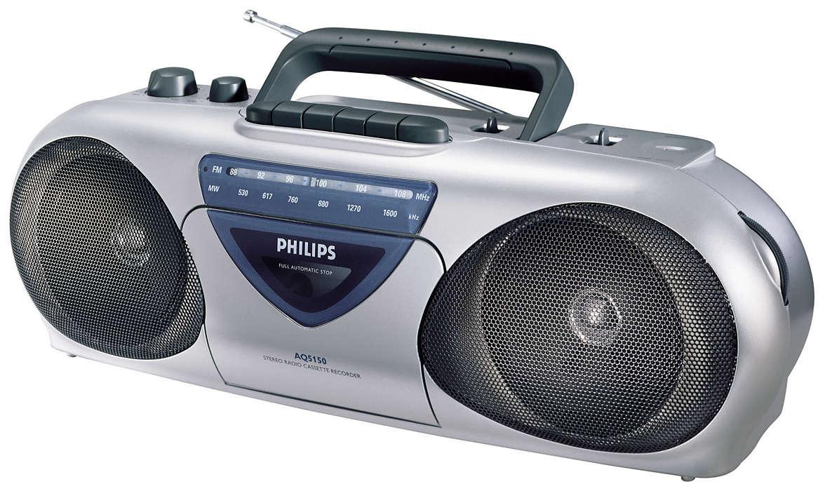 Bærbar radio/kassettspiller