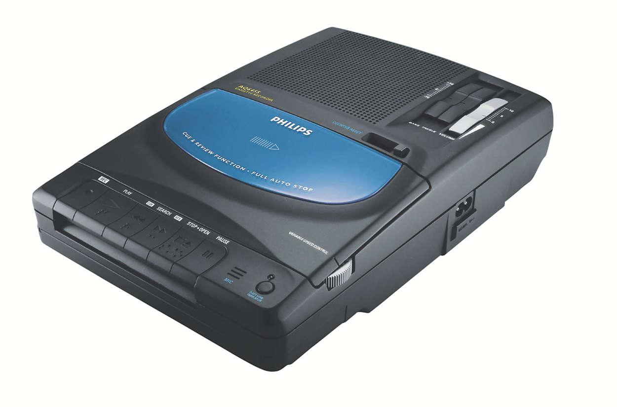 Portable Radio/Cassette Rec  AQ6455/00   Philips
