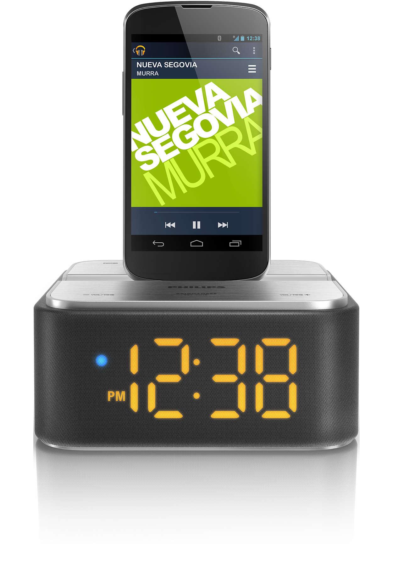 """Leiskite muziką ir įkraukite savo """"Android"""" telefoną"""