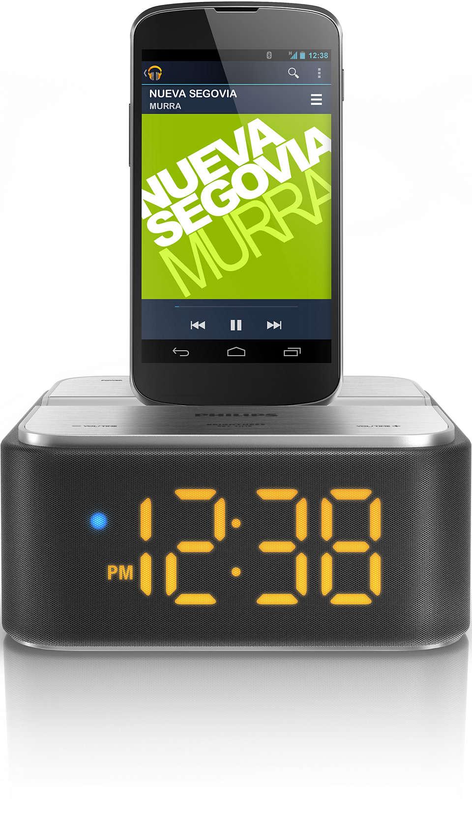 Straumējiet mūziku un uzlādējiet savu Android tālruni