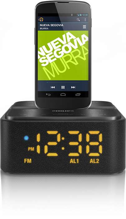 Transmiteţi-vă muzica şi încărcaţi-vă telefonul Android